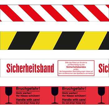 Warnmarkierungen, VOID-Packbänder und bedruckte Packbänder