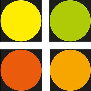 Beschriftbare Lageretiketten von DN-Sign