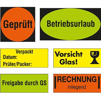 Hinweisetiketten und Warnetiketten von DN-Sign