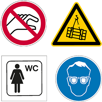 Piktogramme und Sicherheitsschilder von DN-Sign