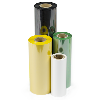 Thermotransferbänder in verschiedenen Farben und Größen