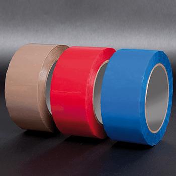 Ohne Aufdruck rot<br>50mm x 50lfm | Bänder und Markierungen