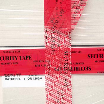 Mit Aufdruck rot<br>48mm x 50lfm | Bänder und Markierungen