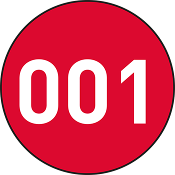 Rot (1-500) | Bedruckte Lageretiketten