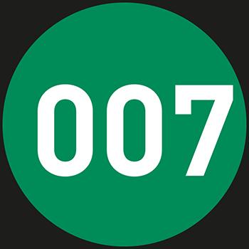 Grün (1-500) | Bedruckte Lageretiketten