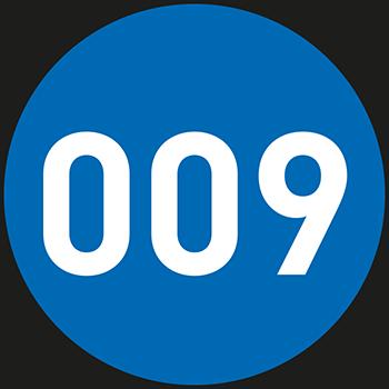 Blau (1-500) | Bedruckte Lageretiketten
