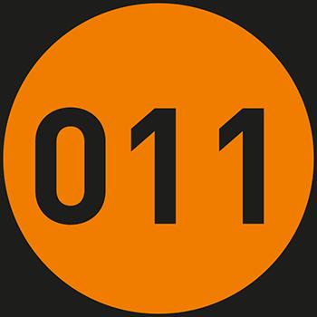 Orange (1-500) | Bedruckte Lageretiketten