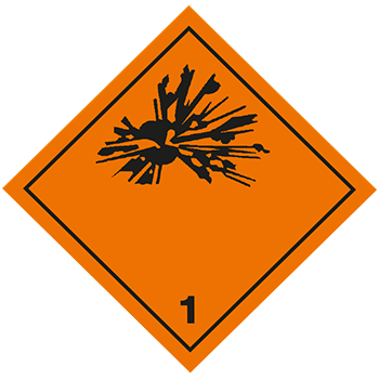 Explosive Stoffe | Gefahrgutetiketten