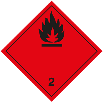 Entzündbare Gase | Gefahrgutetiketten