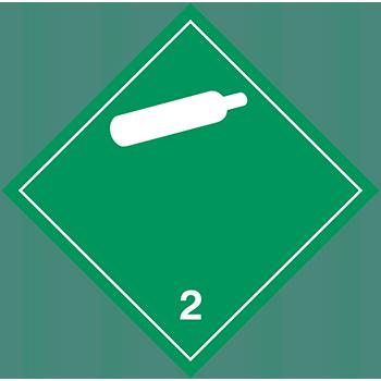 Nicht entzündbare nicht giftige Gase | Gefahrgutetiketten