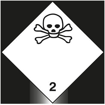 Giftige Gase | Gefahrgutetiketten