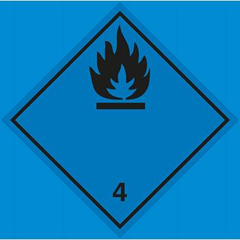Entzündliche Feststoffe (wasseraktiv) | Gefahrgutetiketten