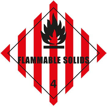 Flammable Solids | Gefahrgutetiketten