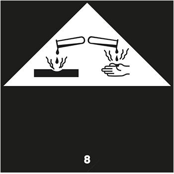 Ätzende Stoffe | Gefahrgutetiketten