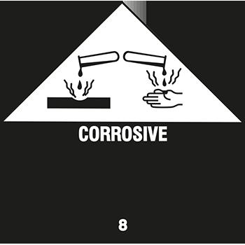 Corrosive | Gefahrgutetiketten