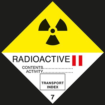 Radioaktive Stoffe Klasse 2 | Gefahrgutetiketten