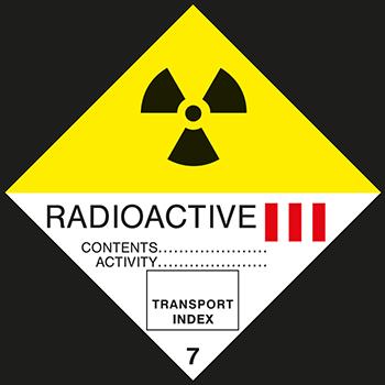 Radioaktive Stoffe Klasse 3 | Gefahrgutetiketten