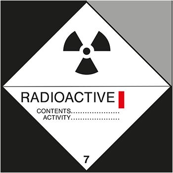 Radioaktive Stoffe Klasse 1 | Gefahrgutetiketten