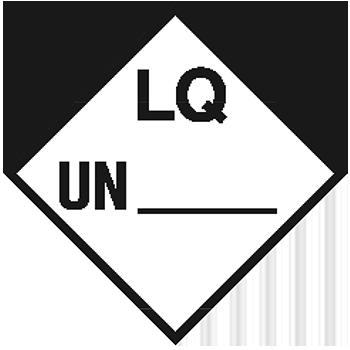 Begrenzte Menge mit UN-Nummer | Gefahrgutetiketten