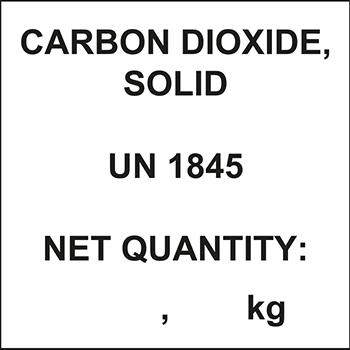 Carbon Dioxide | Gefahrgutetiketten