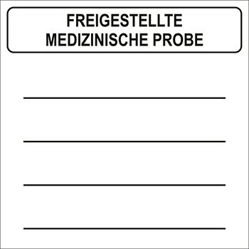 Freigestellte medizinische Probe | Gefahrgutetiketten
