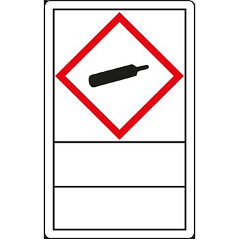 Gasflasche | Gefahrstoffetiketten