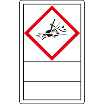 Explodierende Bombe | Gefahrstoffetiketten
