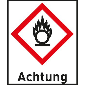 Flamme über Kreis | Gefahrstoffetiketten