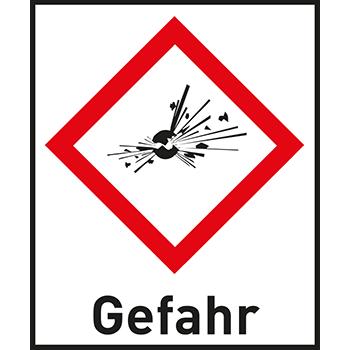 Eplodierende Bombe | Gefahrstoffetiketten