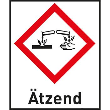 Ätzend | Gefahrstoffetiketten