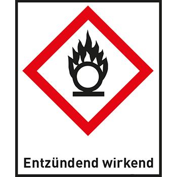Entzündend wirkend | Gefahrstoffetiketten