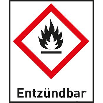Entzündbar | Gefahrstoffetiketten