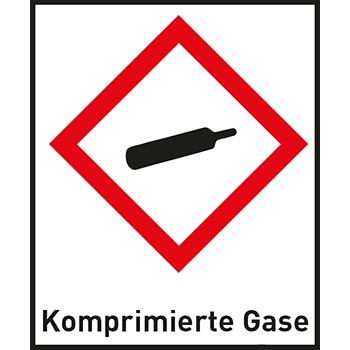 Komprimierte Gase | Gefahrstoffetiketten