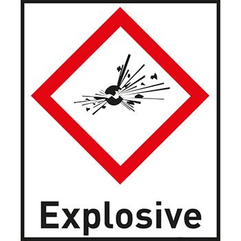 Explosive | Gefahrstoffetiketten