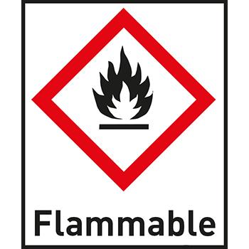 Flammable | Gefahrstoffetiketten