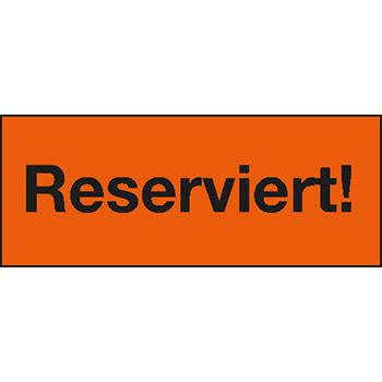 Reserviert! | Hinweisetiketten
