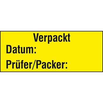 Verpackt | Hinweisetiketten