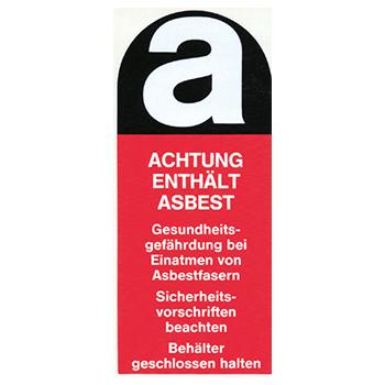 Warnhinweis für Asbest | Hinweisetiketten