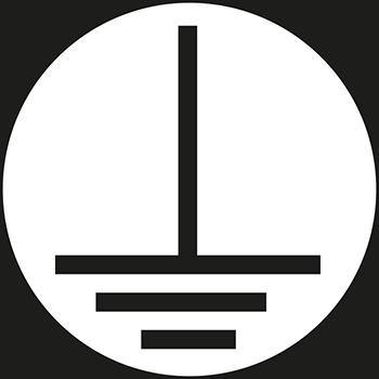 Erde (E) (Grund weiss) | Leiterkennzeichung