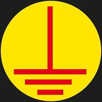 Erde (E) (Grund gelb) | Leiterkennzeichung