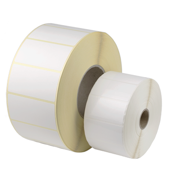 1-bahnig 2500 St. 80 mm x 25 mm | Neutrale Etiketten