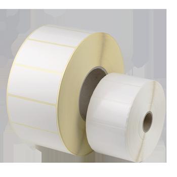 1-bahnig 5000 St. 80 mm x 25 mm   Neutrale Etiketten