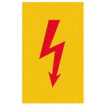 Warnzeichen roter Blitzpfeil | Piktogramme und Sicherheitsschilder