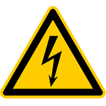 Gefährliche ekeltrische Spannung | Piktogramme und Sicherheitsschilder