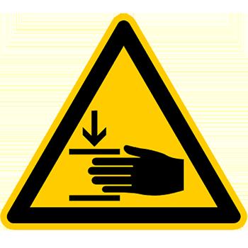 Handverletzungsgefahr | Piktogramme und Sicherheitsschilder