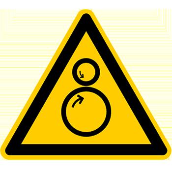 Einzugsgefahr | Piktogramme und Sicherheitsschilder