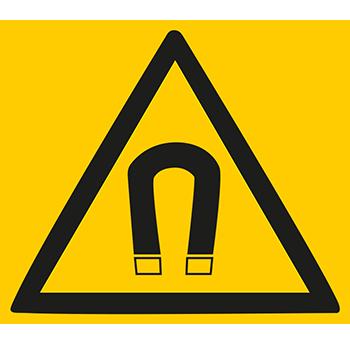 Warnung vor magnetischem Feld | Piktogramme und Sicherheitsschilder
