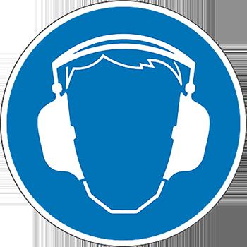 Gehörschutz | Piktogramme und Sicherheitsschilder