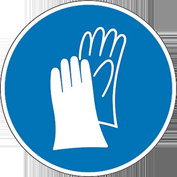 Handschutz | Piktogramme und Sicherheitsschilder