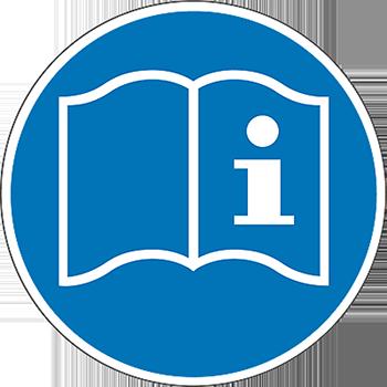 Gebrauchsanweisung lesen | Piktogramme und Sicherheitsschilder